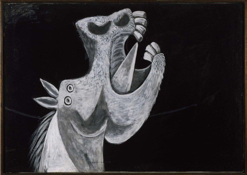 9. Cabeza de caballo. 2 de mayo de 1937. 650×921 mm. Oleo sobre lienzo.