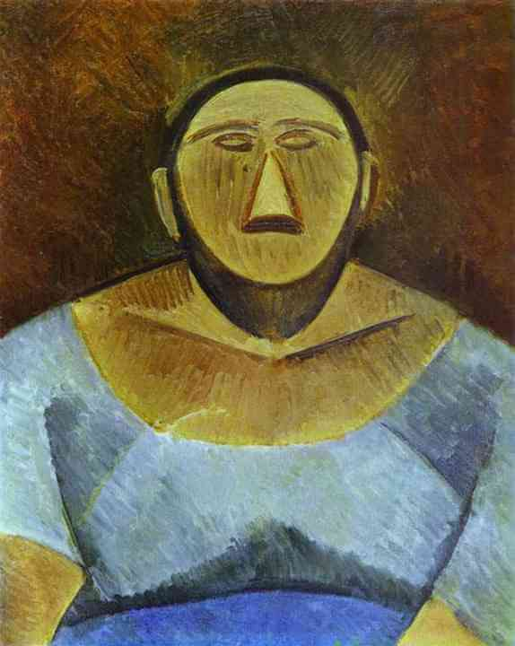 Picasso, Busto de mujer campesina, 1908.