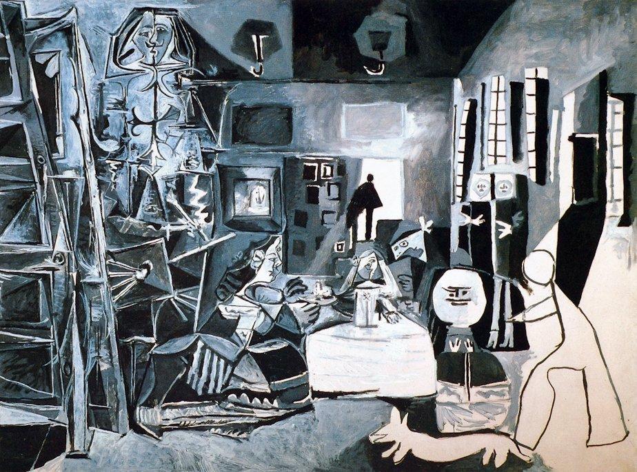 """Picasso biografía corta, cuadro de la serie """"Las Meninas"""", 1957."""