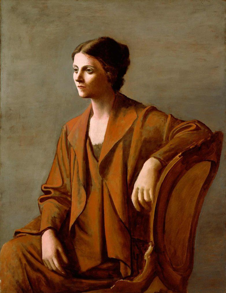 Picasso biografía corta, Retrato de Olga, 1923.