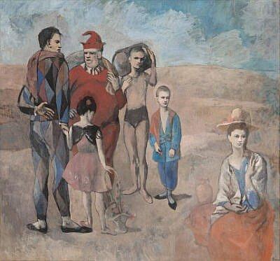 Pablo Picasso , Familia de saltimbanquis,1905.