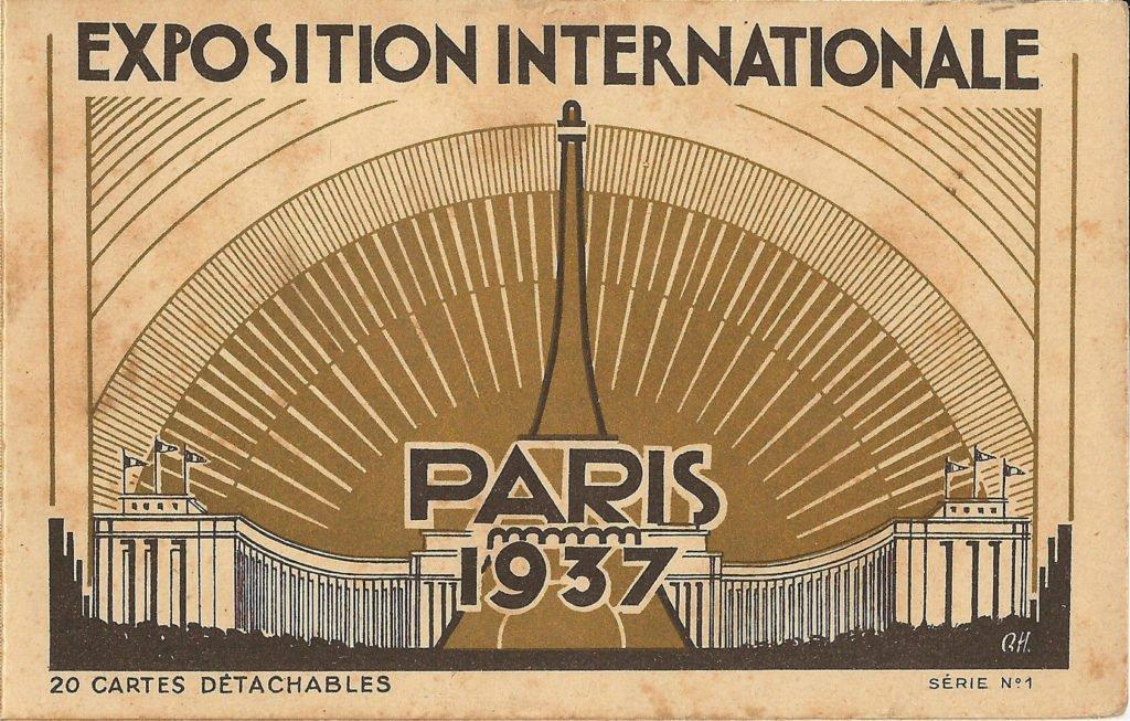 Cuadro Guernica de Picasso, Cartel de la Exposición Internacional de Paris, de 1937.