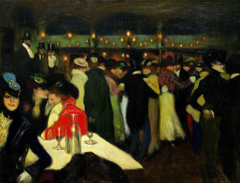 Picasso biografía corta, Le Moulin de la Galette. París, Noviembre 1900.