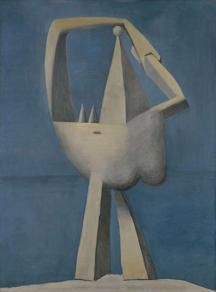 Pablo Picasso, Desnudo de pie junto al mar, 1929.