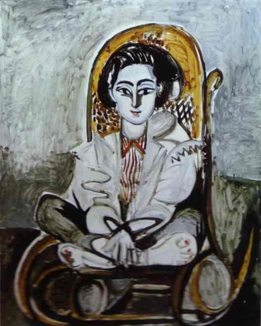 Picasso biografía corta, Retrato deJacqueline Rocque, 1954.