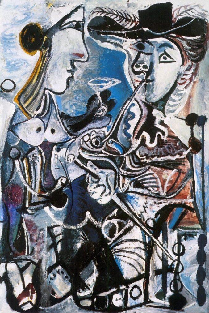 Picasso biografía corta, La pareja, 1967, Kunstmuseum Basel.