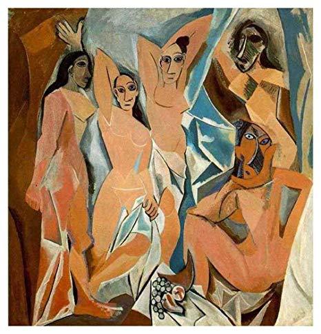 Picasso biografía corta, Las señoritas de avignon, 1907.