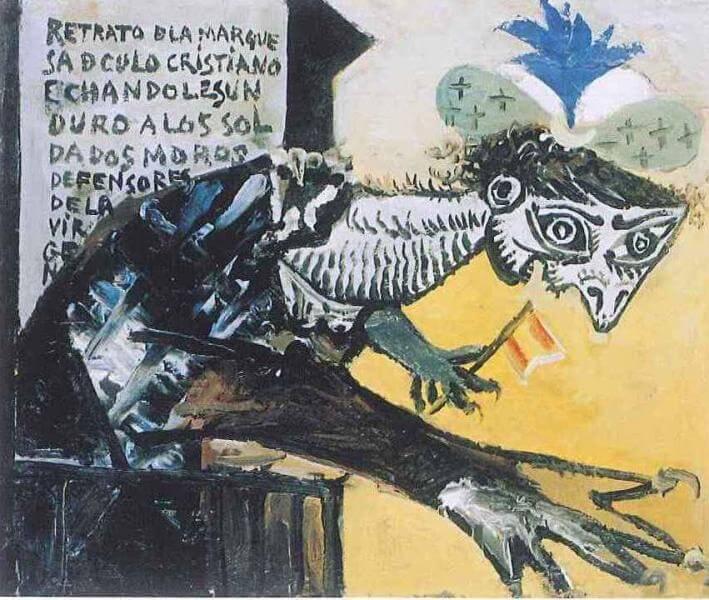 Cuadro Guernica de Picasso, Figura de mujer inspirada en la Guerra Civil española, 19 de enero de 1937.