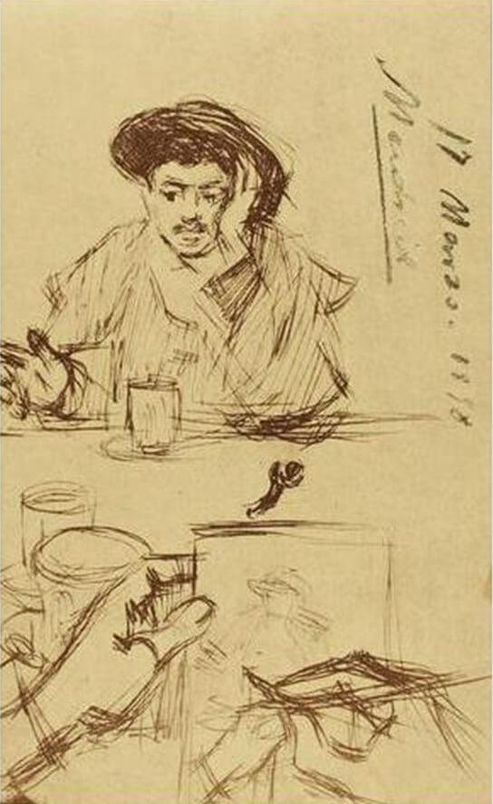 Picasso, bocetos de su diario madrileño, 1898.