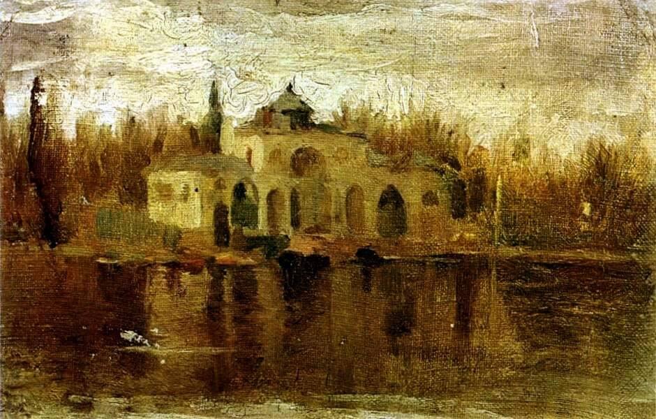 "Picasso, ""Estanque del Retiro"", octubre 1897/mayo 1898."