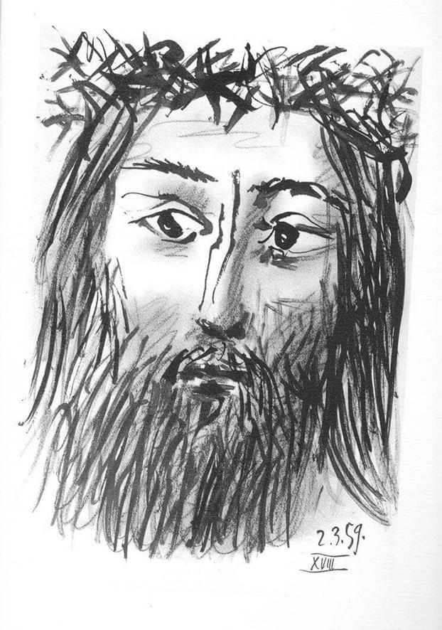 Picasso, Rostro del crucificado, 2.3.1959 (XVIII).