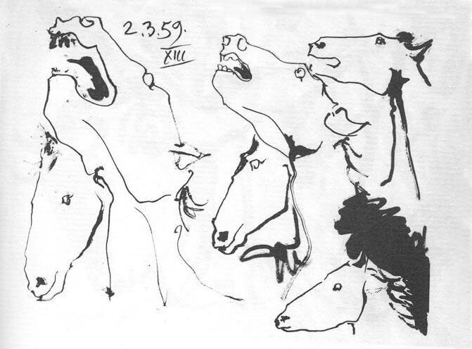 Picasso, caballos, 2.3.1959.(XIII).