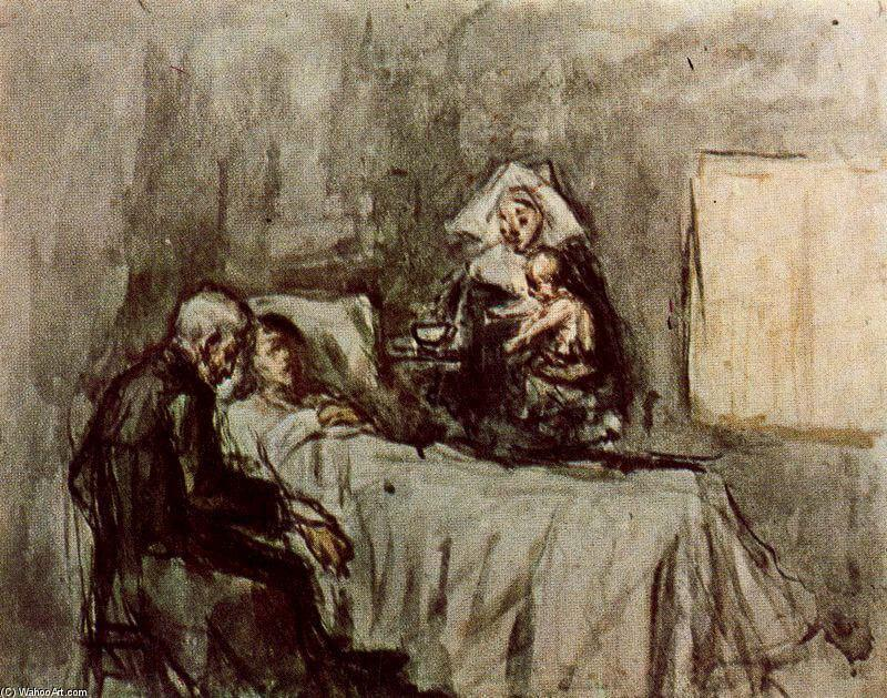 Picasso, boceto para Ciencia y Caridad, 1897.