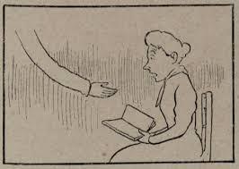 """Joaquín Xaudaró Echau, 1898. Representación humorística del cuadro de Picasso en la Exposición de Bellas Artes. Fotograbado en """"El Gato Negro"""", Barcelona, tomo I, nº 18, 14/5/1898, s/p. Col. BASL, Málaga."""