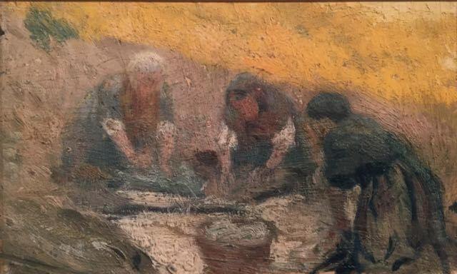 """Picasso, """"Mujeres lavando"""", Horta de San Joan, junio 1898- febrero 1899."""