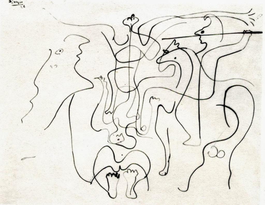Picasso, estudio para Crucifixión cubista, 1926.