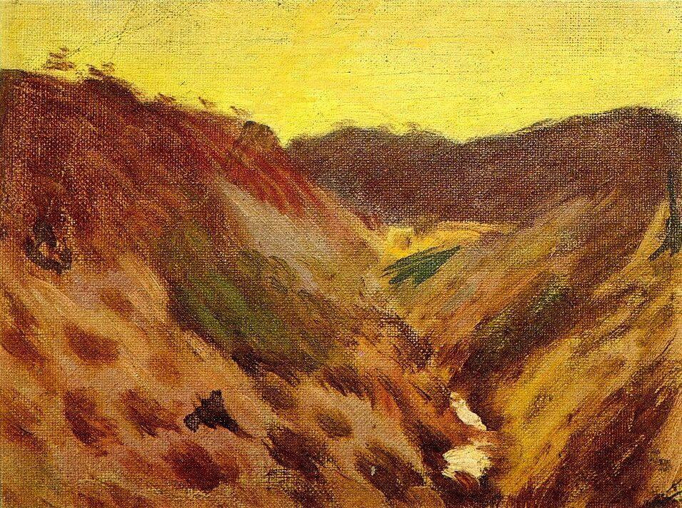 Picasso, Paisaje, 1898.
