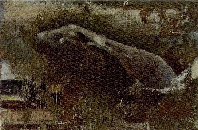 """Picasso, """"La caverna"""", 1898."""