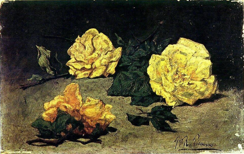 Picasso, Tres rosas, 1898.