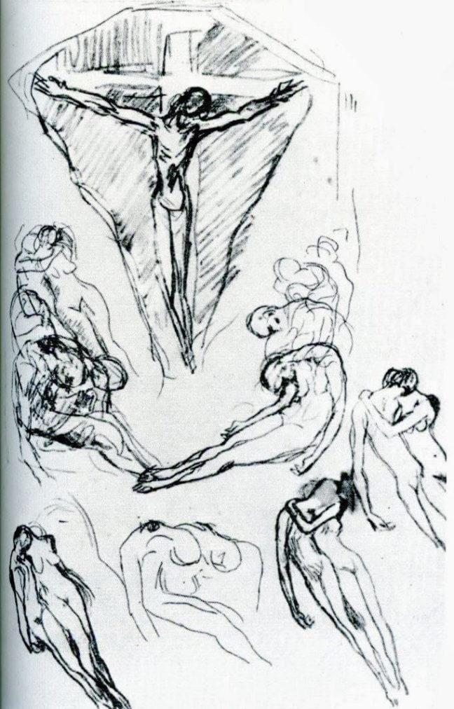 Picasso, Visión celestial, 1903.