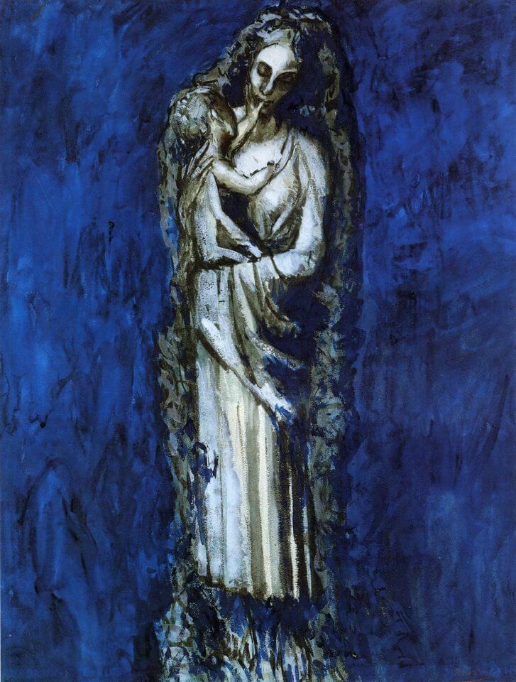 Picasso, Madonna de la guirlande, 1904.