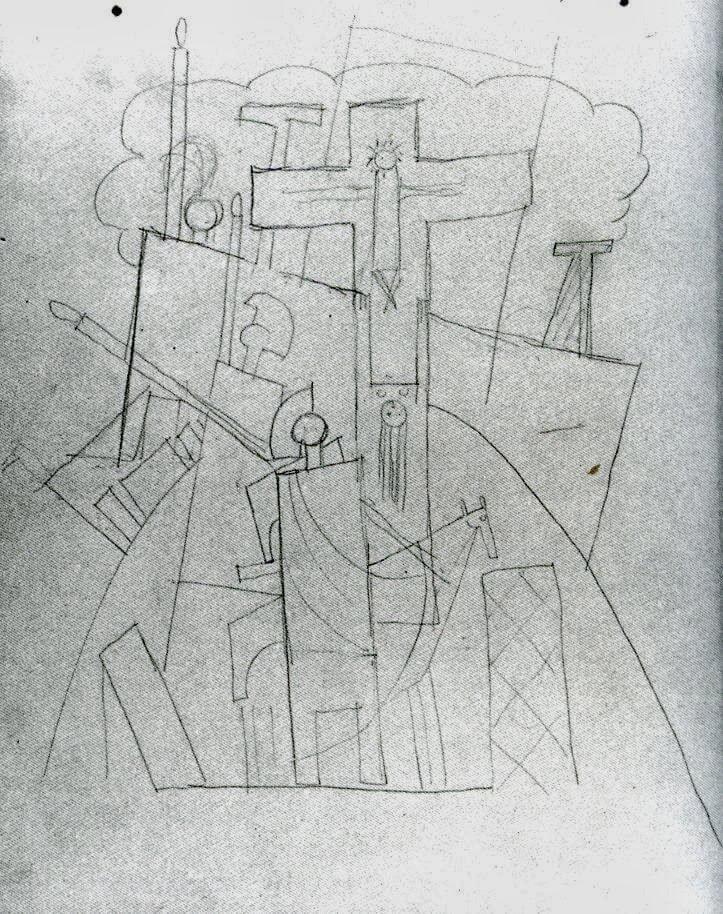 Picasso, Crucifixión, 1917.