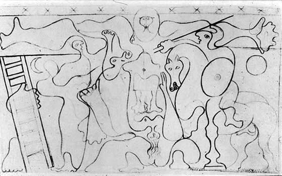 Picasso, estudio para Crucifixión, cubista, 1929.