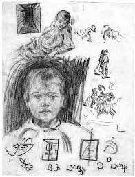 """Picasso, """"Niño y otros croquis"""", Horta de Sant Joan y Barcelona, 1898-1899."""