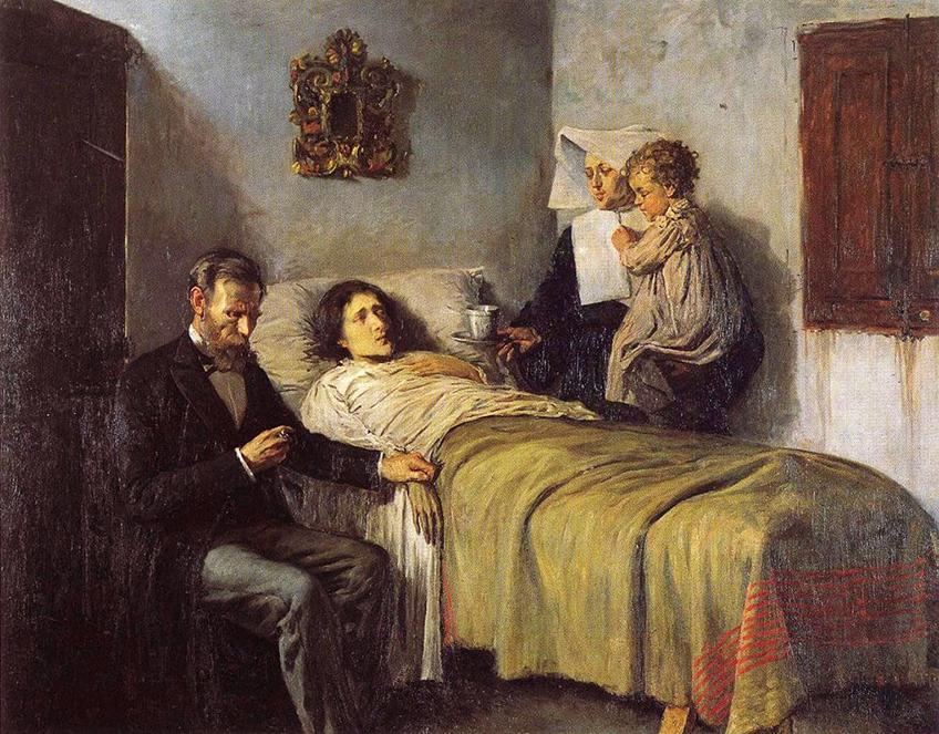 """Picasso, """"Ciencia y caridad"""", 1897. Museo Picasso de Barcelona."""