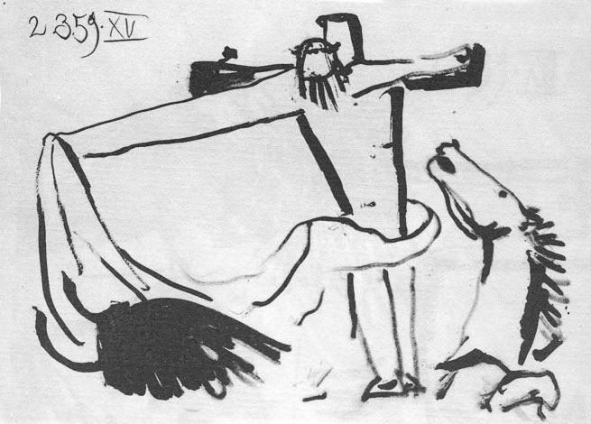 Picasso, Crucificado toreando, 2.3.1959.(XV).