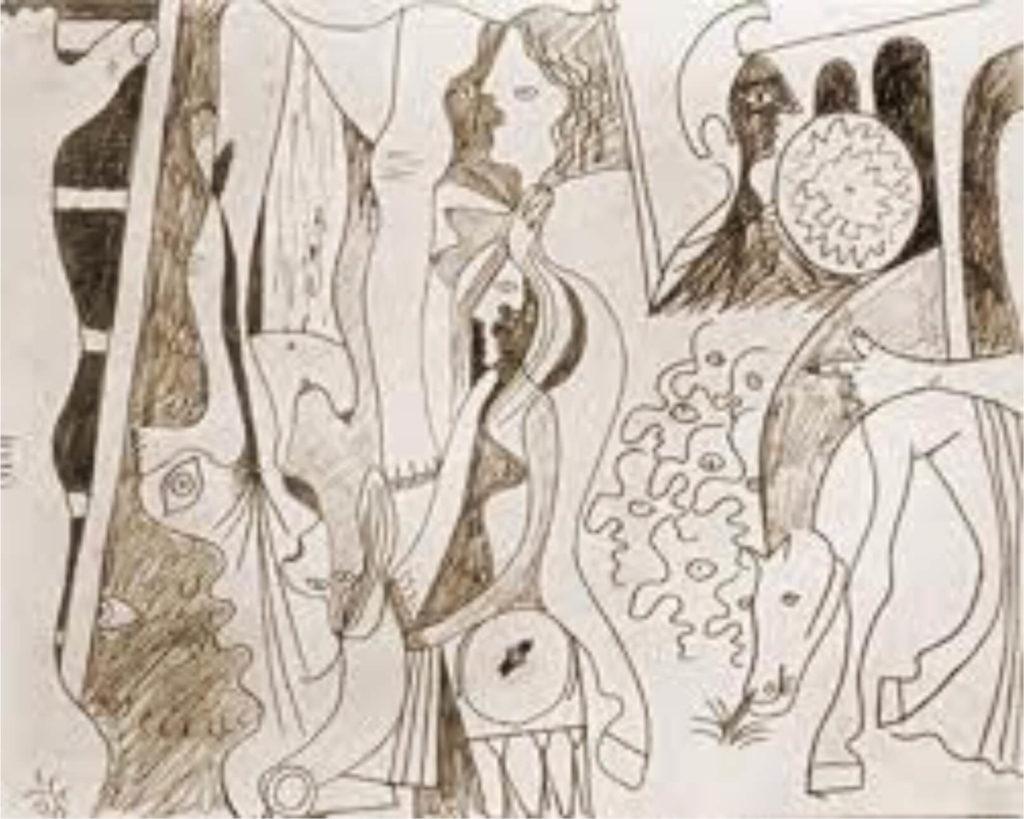 Picasso, estudio para Crucifixión cubista, 1929.