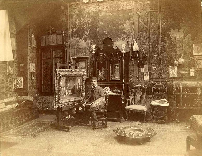 Luis Jiménez Aranda en su estudio.