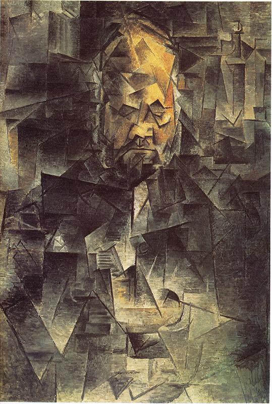 """Cubismo analítico de Picasso, """"""""Retrato de A. Vollard"""", 1909-1910, París""""."""