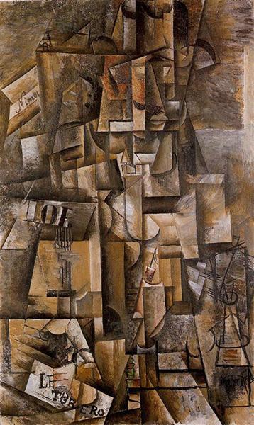 """Cubismo analítico de Picaso """"El aficionado"""" (el torero), 1912."""
