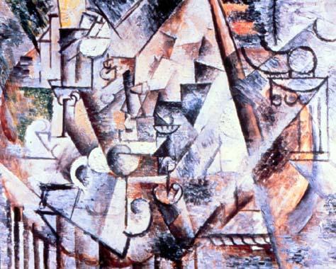 "Cubismo analítico de Picasso, ""El ajedrez"", 1911."