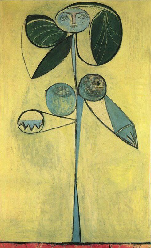 """Cuadro de Picasso, """"Mujer flor"""", 1949."""