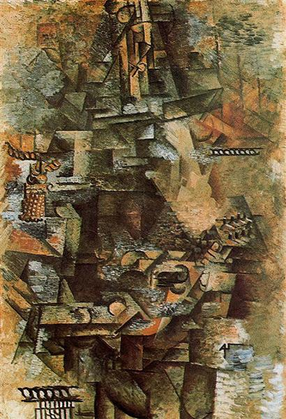 "Cubismo analítico de Picasso, ""La mandolinista"", 1911."