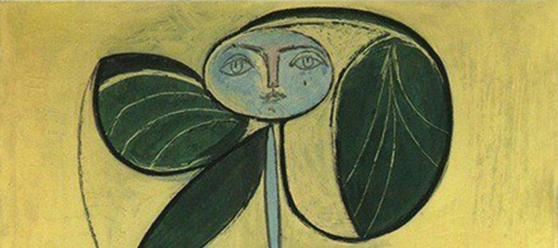 El cuadro Mujer flor de Picasso 1