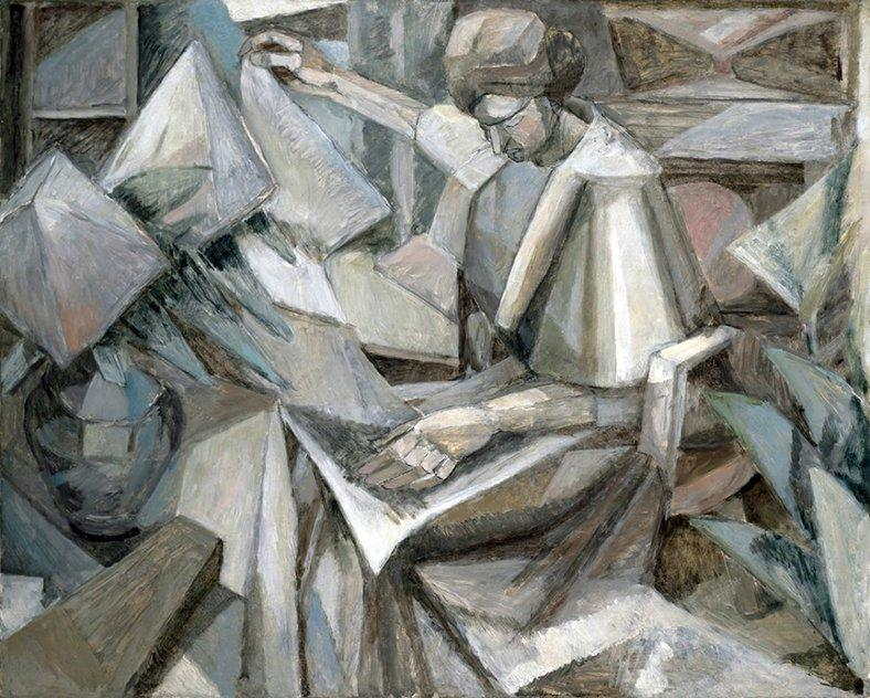 "Albert Gleizes, ""Femme aux Phlox"" (Mujer con las flores), 1910. El Cubismo"