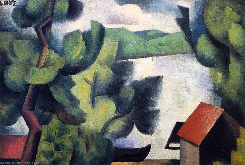 """Andre Lhote, """"Le shore"""", 1912. El Cubismo"""
