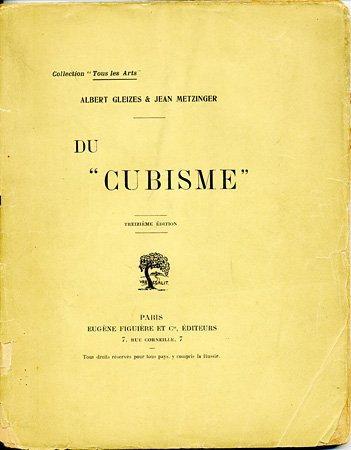"Portada de ""Du cubisme"", de Albert Gleizes y Jean Metzinger, París, 1912. El Cubismo"