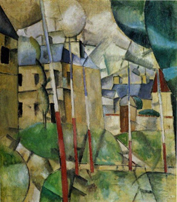 "Fernand Léger, ""Paisaje"", 1912-1913."