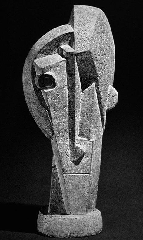 """Henri Laurens, """"Tête"""", 1918."""