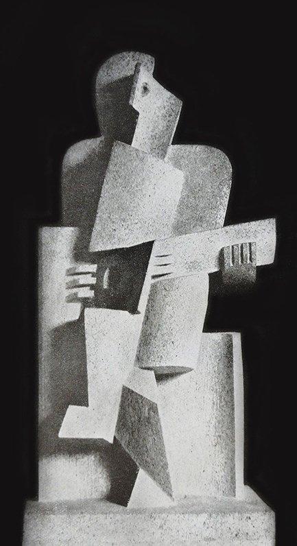 """Jacques Lipchitz, """"Le Guitariste"""", 1918."""