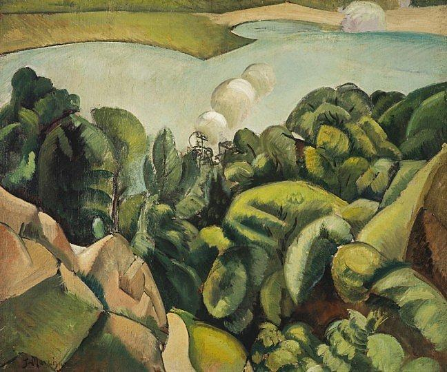 "Jean Marchand, ""The Lake"". c.1910. El Cubismo"