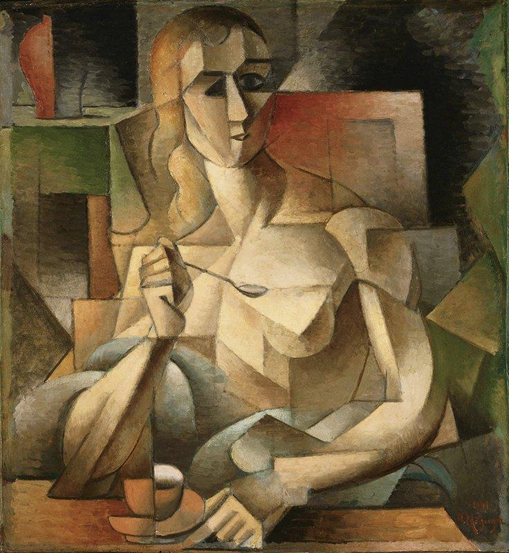 "Jean Metzinger, ""Le Goûter (Tea Time)"", 1911. El Cubismo"