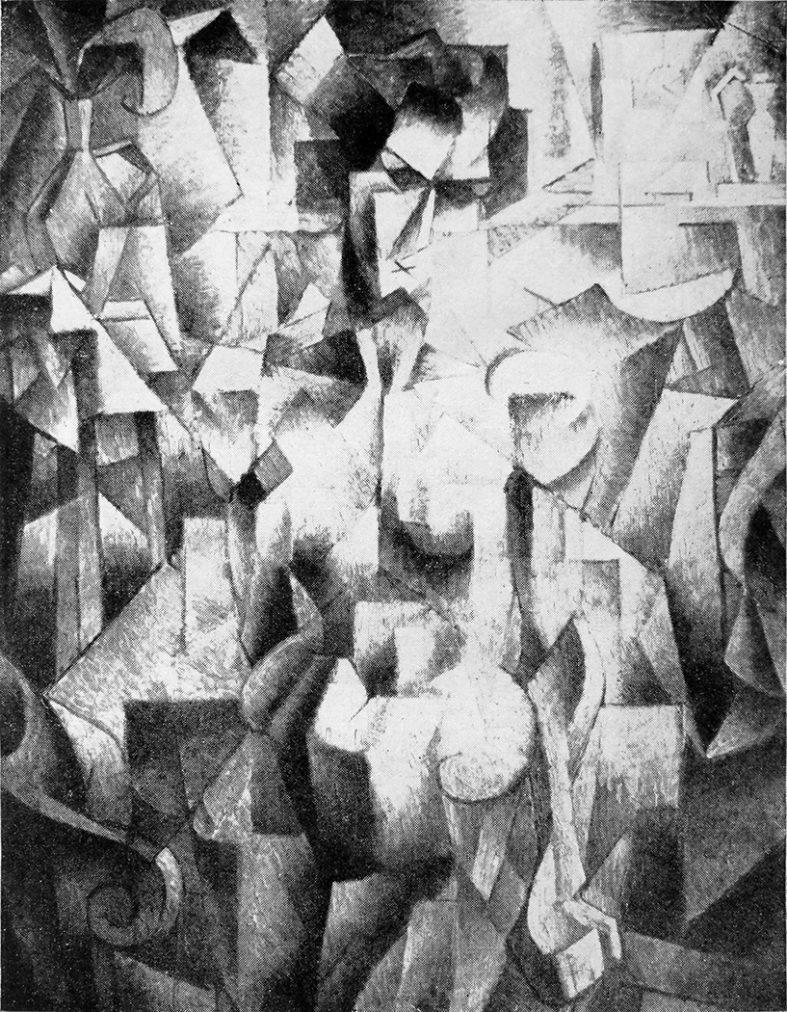 "El Cubismo Jean Metzinger, ""Nu à la cheminée"", 1910 (publicado en ""Les Peintres Cubistes"", 1913."