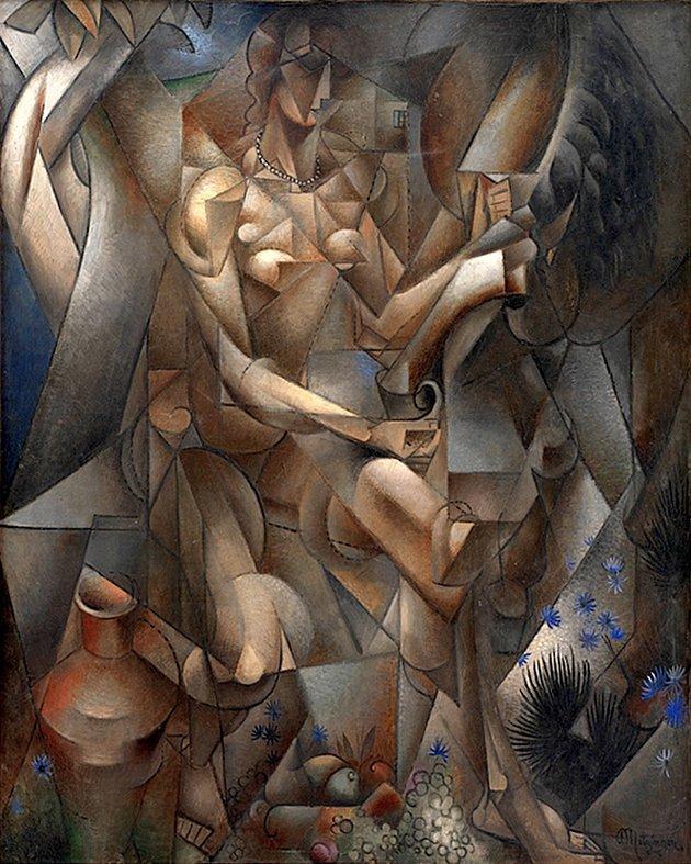 """Jean Metzinger, """"La Femme au Cheval"""", 1911,1912."""