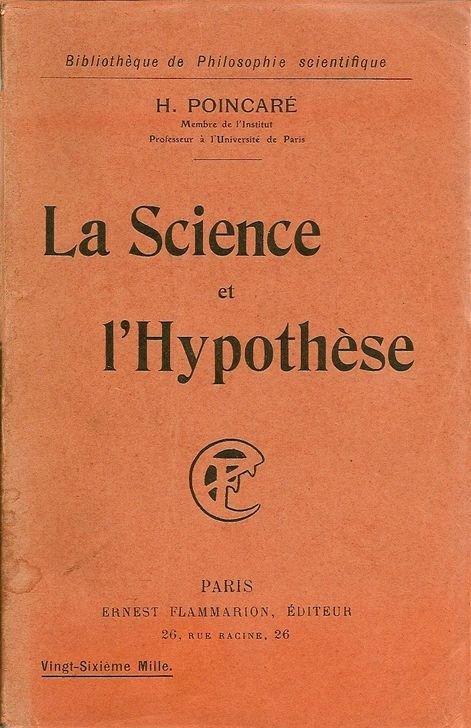 """Portada del libro de Henri Poincaré, """"La Science et l'Hypothèse"""", 1902, París."""