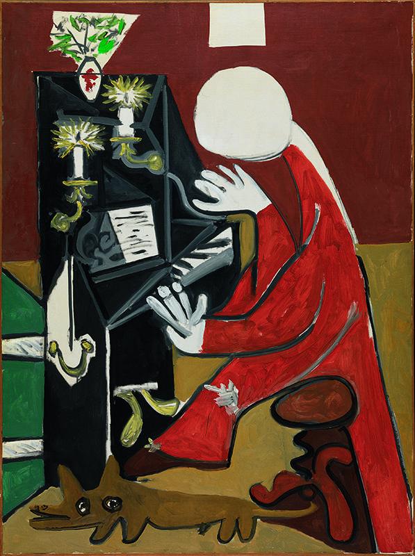 Pablo Picasso. El piano. Cannes, 17 de octubre de 1957. Museu Picasso, Barcelona.